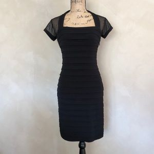 Maggy London illusion top cocktail formal dress